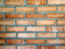 Nahes hohes der Backsteinmauer Lizenzfreies Stockfoto