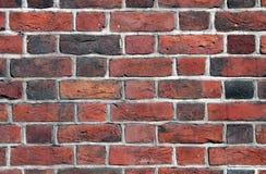 Nahes hohes der Backsteinmauer Lizenzfreie Stockbilder