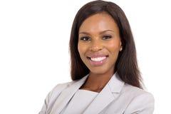Nahes hohes der Geschäftsfrau Lizenzfreies Stockbild