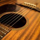 Nahes hohes der Gitarre Lizenzfreie Stockfotos