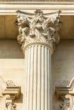 Nahes hohes der korinthischen Säule Lizenzfreies Stockbild
