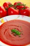 Nahes hohes der Suppe Stockfotos