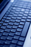 Nahes hohes der Tastatur Stockfotos