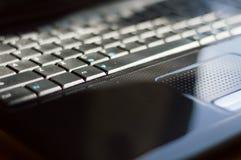 Nahes hohes der Tastatur stockfoto