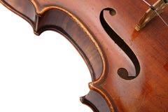 Nahes hohes der Violine Stockbilder