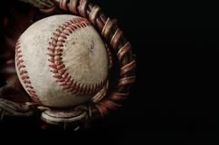 Nahes hohes des Baseballs lizenzfreie stockfotografie