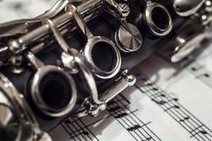 Nahes hohes des Clarinet Stockbilder