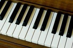 Nahes hohes des Klaviers Lizenzfreie Stockbilder