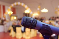 Nahes hohes des Mikrofons Stockbilder