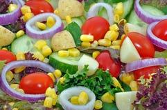 Nahes hohes des Salats Lizenzfreie Stockfotos