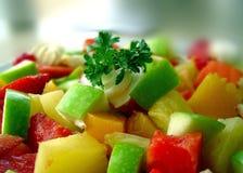 Nahes hohes des Salats Stockbilder