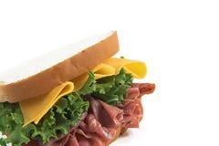 Nahes hohes des Sandwiches stockbilder