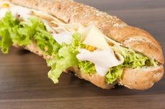 Nahes hohes des Sandwiches Lizenzfreie Stockbilder
