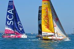 Nahes Yacht-Laufen Stockfotos