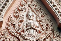 Nahkon Pathom, Thailand: Buddha Figure Royalty Free Stock Image