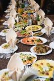 Nahrung auf der Tabelle Stockbild