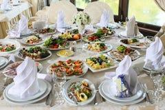 Nahrung auf Tabelle Stockfoto