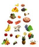 Nahrung in der Anleitungpyramide Stockfoto