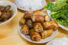 Nahrung des Brötchens Cha - Vietnams lizenzfreie stockfotos