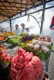 Nahrung, die Strömungsabrisse in Marrakesch kocht Lizenzfreies Stockbild
