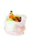 Nahrung in einer Plastiktasche stockfotos