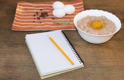 Nahrung Fleisch und Eier Stockfotografie