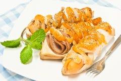 Nahrung gebildet vom Brot Lizenzfreies Stockfoto