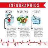 Nahrung infographics Lizenzfreie Stockbilder