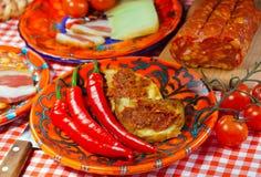 Nahrung Kalabriens, Schauplatz lizenzfreies stockbild