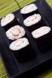 Nahrung - Platte der Sushi Lizenzfreies Stockfoto