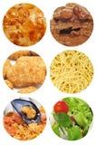 Nahrung richtet Collage an Lizenzfreies Stockfoto