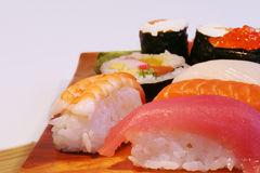 Nahrung: Sushi Lizenzfreie Stockbilder