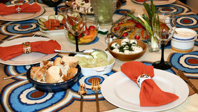 Nahrung und table-1 Stockfotografie