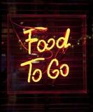 Nahrung, zum zu gehen Zeichen Stockfotografie