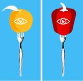 Nahrungsmittel für gesunde Augen Lizenzfreie Stockfotos