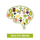Nahrungsmittel in Form des menschlichen Gehirns Stockfotos