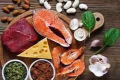 Nahrungsmittel hoch im Zink lizenzfreies stockfoto