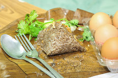 Nahrungsmittel Khao Kan Jin oder Jim Som Ngiao Thais Stockfotografie
