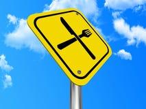 Nahrungsmittel- oder Gaststättezeichen Stockfotos