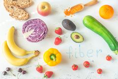 Nahrungsmittel reich in der Faser lizenzfreie stockbilder