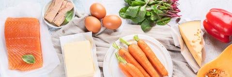 Nahrungsmittel reich im Vitamin A lizenzfreie stockfotografie