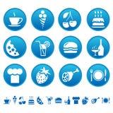 Nahrungsmittel- u. Getränkikonen Stockfotos