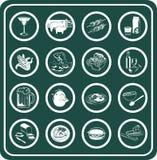 Nahrungsmittel- und Getränkikonen Lizenzfreies Stockfoto