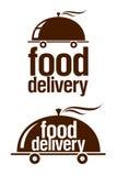 Nahrungsmittelanlieferungszeichen. Stockfotografie