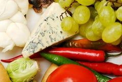 Nahrungsmittelaufbau mit Gemüse 2 Stockfotos