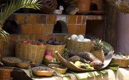 Nahrungsmittelbildschirmanzeige an einer mexikanischen Gaststätte Stockbild