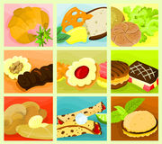 Nahrungsmittelcollage 03 Stockbilder