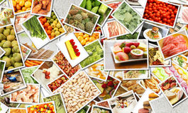 Nahrungsmittelcollage Stockbild