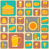 Nahrungsmittelcollage Lizenzfreies Stockfoto