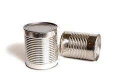 Nahrungsmitteldosen ohne Kennsätze Stockfoto